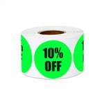 "1.5"" Round 10% OFF Retail Stickers Labels"