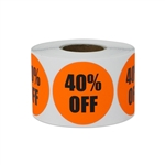 "1.5"" Round 40% OFF Retail Stickers Labels"