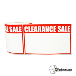 "5.5"" x 3.5"" Write-In Clearance Sale Stickers Labels"