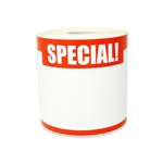 "5.5"" x 3.5"" Write-In Special! Stickers Labels"