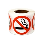 "1.5"" No Smoking Warning Stickers Labels"