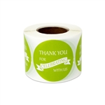 "1.5"" Thank You for Celebrating with Us Stickers Labels"