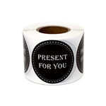 "1.5"" Present for You Stickers Labels"