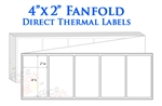 "4"" x 2"" Fanfolded Direct Thermal Labels ( Permanent Adhesive - Fanfold )"