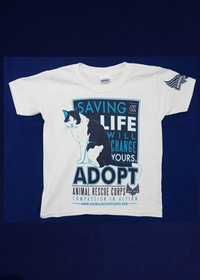 Saving a Life Will Change Yours w/Cat Youth T-Shirt