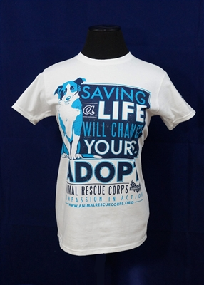 Saving a Life Will Change Yours w/Dog Women's T-Shirt