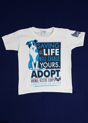Saving a Life Will Change Yours w/Dog YouthT-Shirt