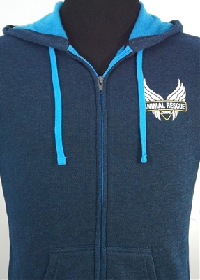 Unisex / Men's Two-Tone Hoodie Blue/Turquoise