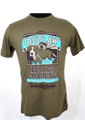 Unisex / Men's Outlaw Dog Chaining T-Shirt