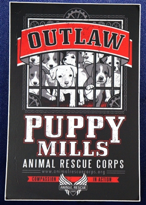 Sticker Outlaw Puppy Mills