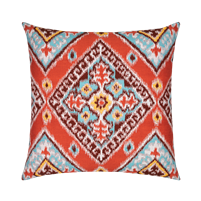 Elaine Smith Ikat Diamond 22 x 22 Outdoor Pillow