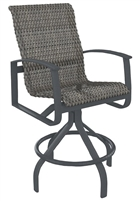 Tropitone Mainsail Woven Swivel Bar Stool