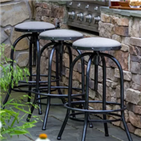 "Peak Season In Stock Backless 27.25"" Bar Stool with Cushion"