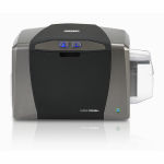 Fargo DTC1250e Single-Sided Color ID Card Printer and Smart Card Encoder Graphic