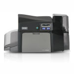Fargo DTC4250e Dual-Sided Color ID Card Printer and Smart Card Encoder Graphic