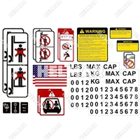 DECAL-KIT-USA<br>UNIVERSAL DECAL KIT