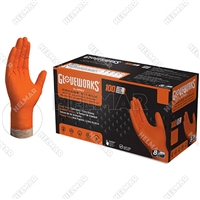 GLV-4400<br>ORANGE NITRILE NO POWDER (MED)