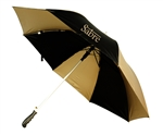 "B1308 - The 56"" Arc Black/Metallic Gold Auto Open Umbrella"