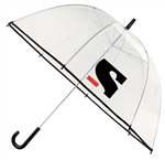 "B1333 - The 47"" Clear Bubble Umbrella with Hook Handle"