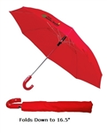 "B1348 - The 41"" Auto Open Folding Umbrella with Hook Handle"