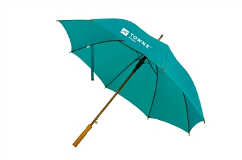 "B1371 - The Upgraded 48"" Auto Open Straight Umbrella with wood shaft"