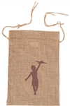 B3023 - The Small Natural Drawstring Jute Tote
