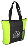 B3069 - The All Purpose Zippered Tote With Front Pocket and Side Mesh Pocket