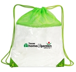 B3072 - The Clear Vinyl/Mesh Drawstring Backpack