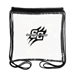 "B3074 - The 12"" x 12"" Clear Drawstring Backpack"