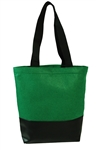 B3103- Heavy Velvet Tote With Leatherette Base