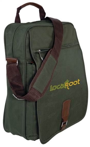 B6046 - The Upright Laptop Messenger Bag