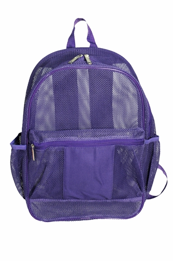B7017 - The All See Through Mesh Backpack