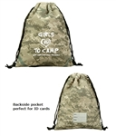 B7037 - The Digital Camo Drawstring Backpack