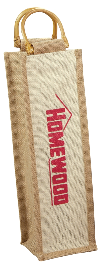 B8016 - The Jute Wine Bag