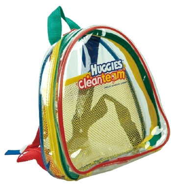 B8032 - Kids Half Moon Clear Backpack