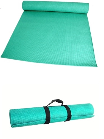 B8035MINT - The Full Length Yoga Mat With Strap Mint Green
