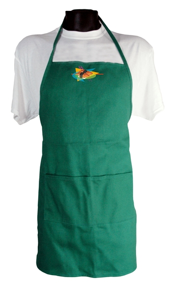 B8204- Heavy Cotton Bib Apron With Pockets