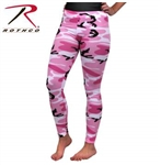 WOMEN'S PINK CAMO LEGGINGS