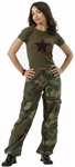 Women's Camo Vintage Fatigue Pants