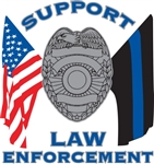 SUPPORT LAW ENFORCEMENT FLAG DECAL