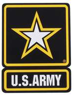 "12"" ARMY AUTO MAGNET"