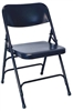 Blue Metal Folding Chair