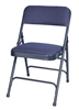 For Sale Blue Vinyl Padded Metal Folding Chairs, Wholesale folding metal chairs, quality folding metal chairs