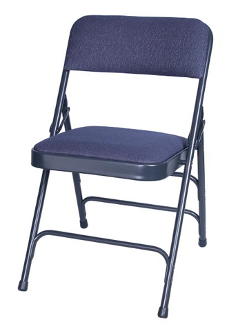 Blue Vinyl Padded Metal Folding Chairs, Wholesale folding metal chairs, quality folding metal chairs