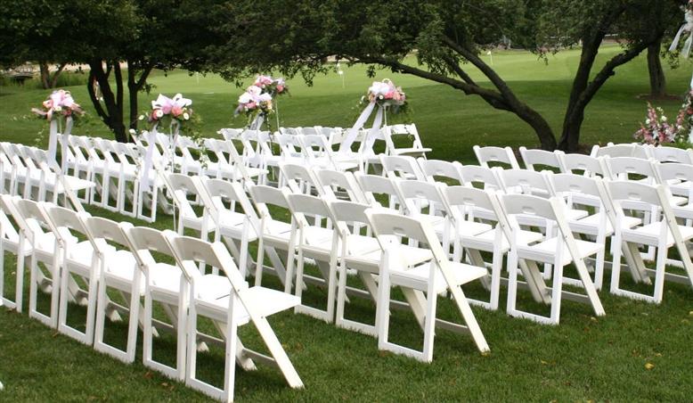 Free Shipping folding resin chair - wedding white folding ...