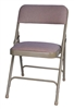 Beige   Vinyl Metal Folding Chair Wholesale Prices