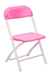 children White Plastic Folding Chair -