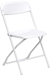 White Plastic Folding Chair - Illionis Cheap Plastic folding chairs, White Poly Samsonite Folding Chairs, lowest prices folding chairs