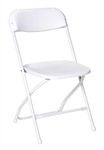 Cheap Prices White Poly Folding Stacking Chairs -Los Angele  Discount Chair Prices