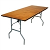 30 x 72 Wood Folding Banquet Tables - Folding Banquet Wood Tables,